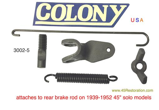 "Rear Brake Switch Pull Kit 1939-1952 45"" solo models 3002-5"
