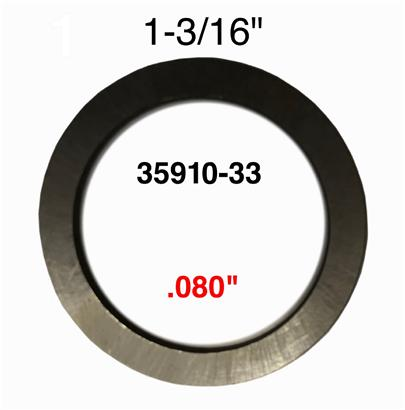 THRUST WASHER .080' 35910-33
