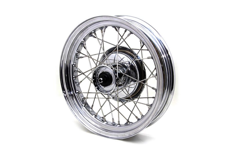 "16"" Chrome solo front wheel with internals 43510-40C"