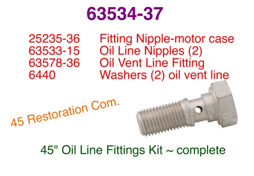 Oil Line Fitting Kit 63534-37