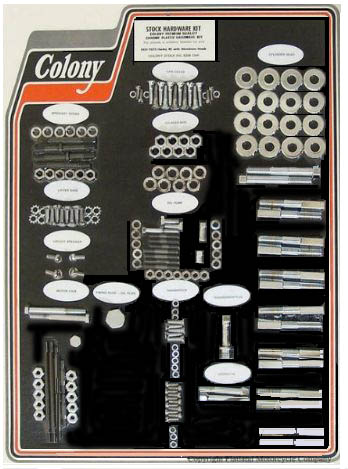 "Colony Engine/Trainsmission, CHROME Kit 1941-73 45"" motors with Aluminum heads 8309-CHR"