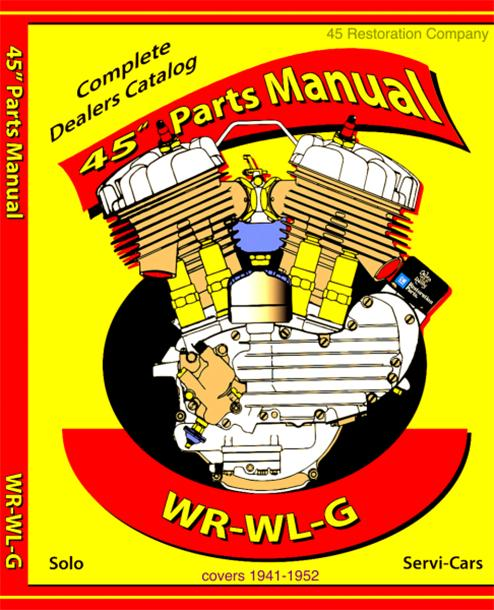 "Spare Parts Manual 1941-1952 45"" solo & serve-car, WR PB1941-52"