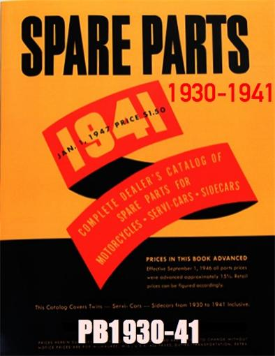 Spare Parts Book 1930-1941  152 pages PB1930-41