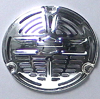 1937-up Horn Grill - winged face - chrome 69020-36